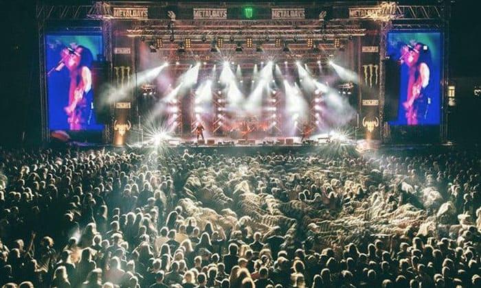 Metaldays Stage by night
